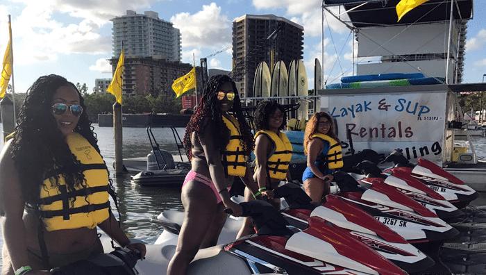 Family smiling before Jet Ski Rental in Miami