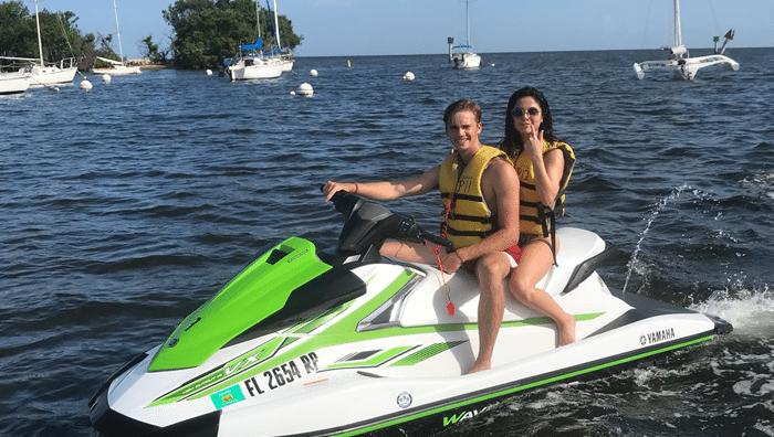 Tourists on Jet Skis in Miami Beach