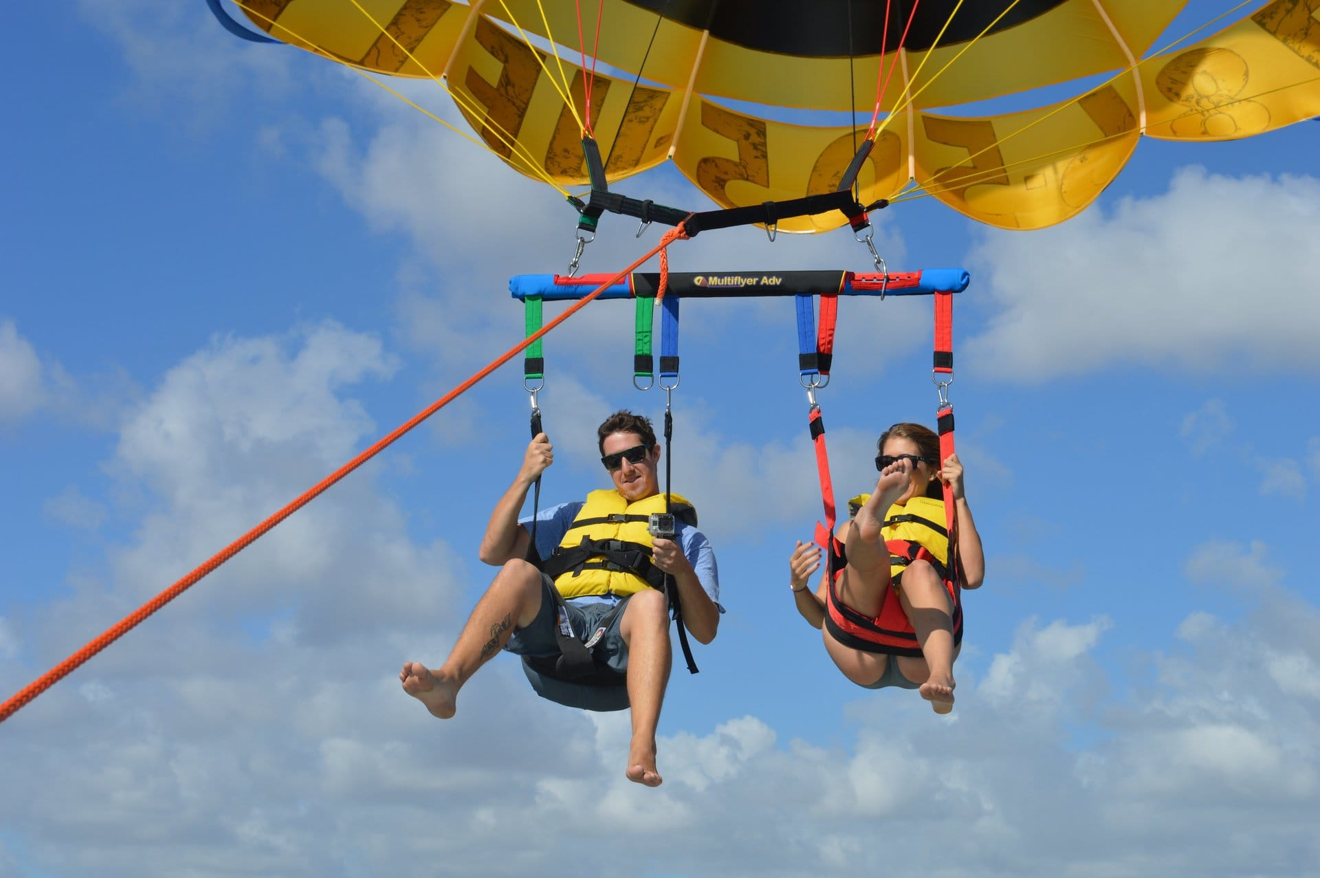 Couple Parasailing with video package