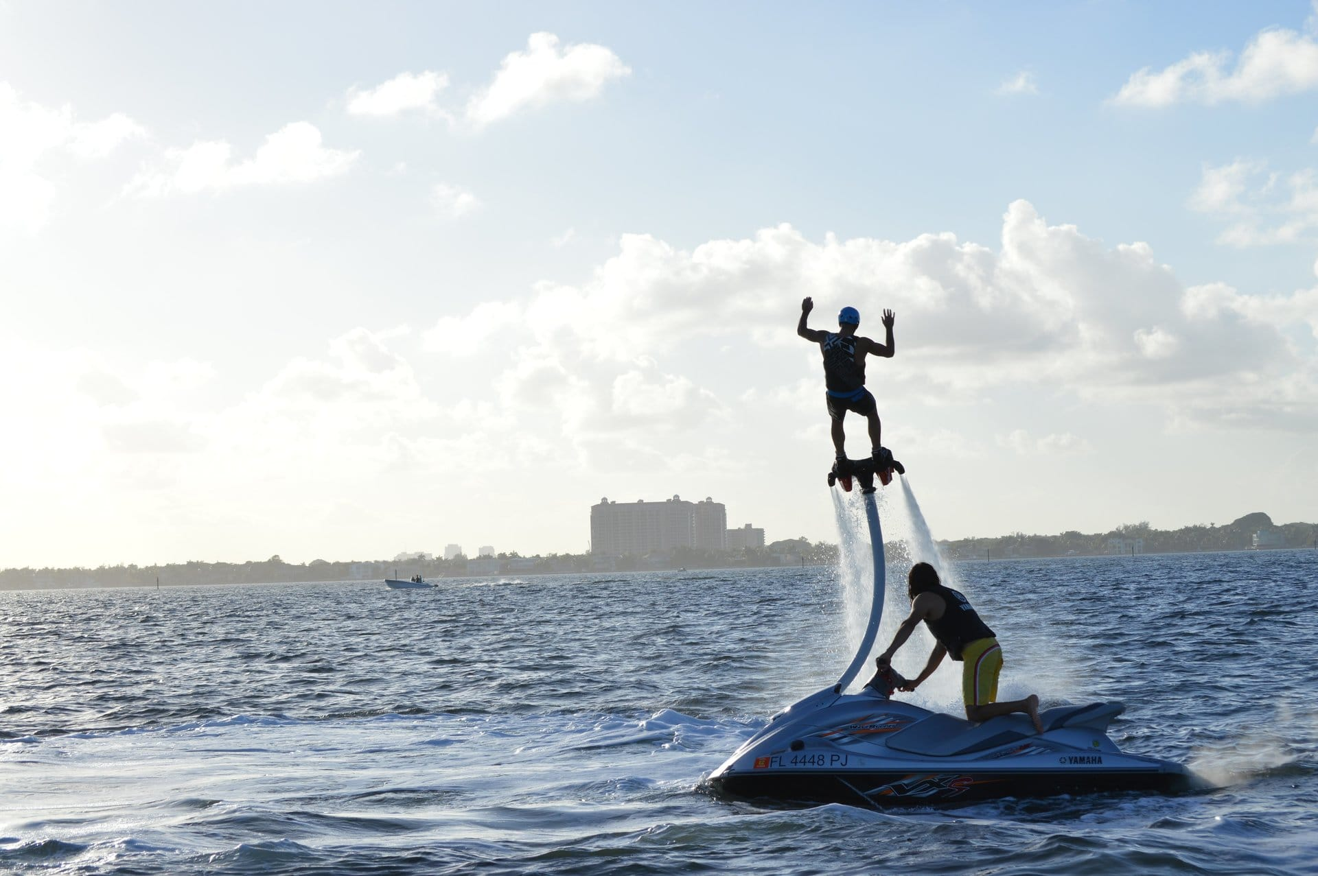 Customer learning to Flyboard in Miami