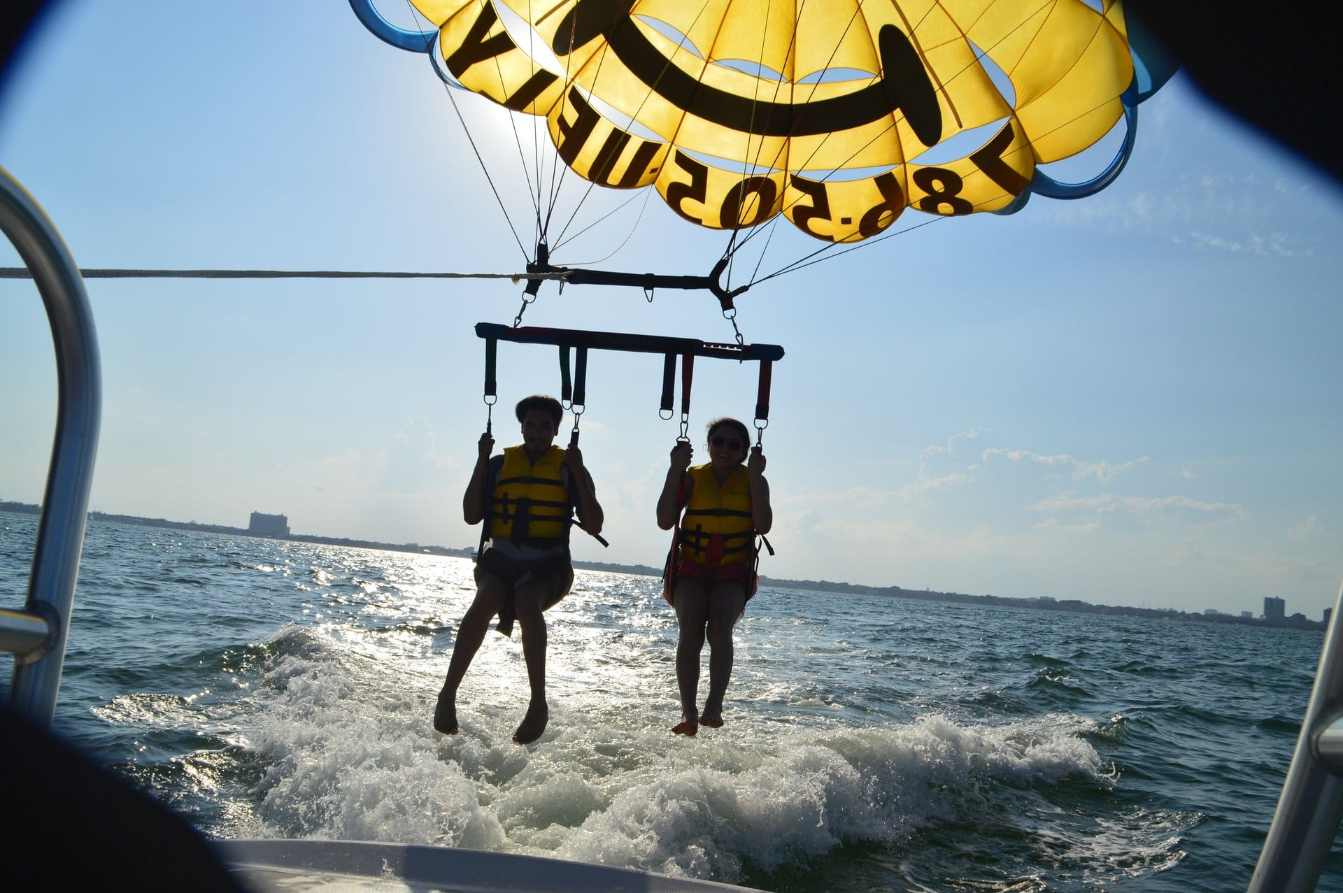 Parasailing by Miami Sunset