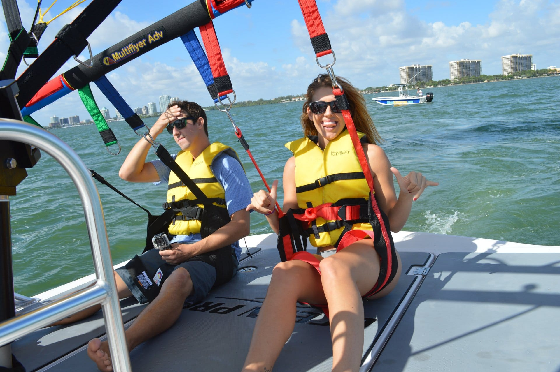 Riders before parasailing in Miami