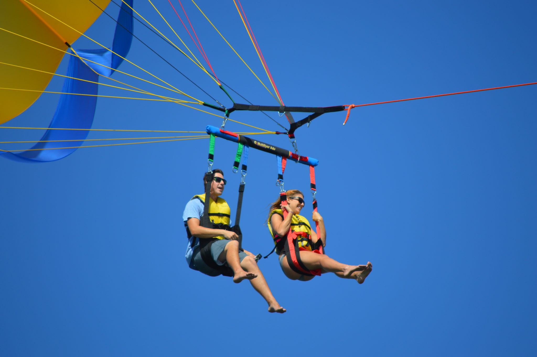 Tourists Parasailing in Miami